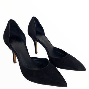 Vince Celeste Pump Black Suede Pointed Toe Heel